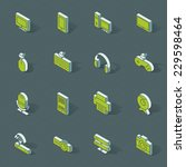 3d vector isometric design... | Shutterstock .eps vector #229598464