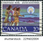 canada   circa 1977  postage... | Shutterstock . vector #229602004