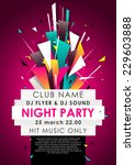 vertical music party background ... | Shutterstock .eps vector #229603888