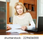 working woman with notebook and ... | Shutterstock . vector #229606000