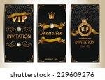 set of vip elegant invitation... | Shutterstock .eps vector #229609276