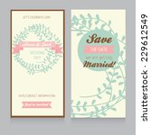 wedding card template with...   Shutterstock .eps vector #229612549
