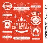 christmas decoration vector... | Shutterstock .eps vector #229613119