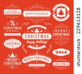 christmas decoration vector... | Shutterstock .eps vector #229613128