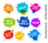 colorful vector icons   sale... | Shutterstock .eps vector #229613650