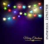 colourful glowing christmas...   Shutterstock .eps vector #229617508