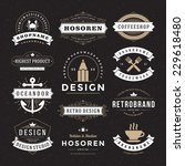 retro vintage insignias or... | Shutterstock .eps vector #229618480