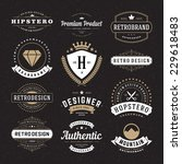 retro vintage insignias or... | Shutterstock .eps vector #229618483