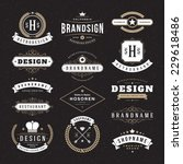 retro vintage insignias or... | Shutterstock .eps vector #229618486