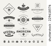retro vintage insignias or... | Shutterstock .eps vector #229618576