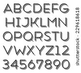 handmade sans serif font. thin...   Shutterstock . vector #229618618