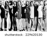 fashion collage. group of... | Shutterstock . vector #229620130