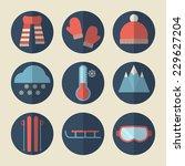 winter icons. vector set  flat...   Shutterstock .eps vector #229627204