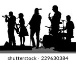 group and singer of rock band... | Shutterstock .eps vector #229630384