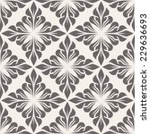 seamless pattern with floral... | Shutterstock .eps vector #229636693
