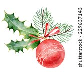 single red decorated christmas... | Shutterstock .eps vector #229637143