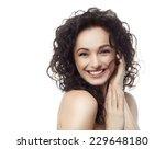 closeup portrait of attractive  ... | Shutterstock . vector #229648180