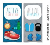 active lifestyle banners.... | Shutterstock .eps vector #229648444