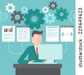 vector programmer working on... | Shutterstock .eps vector #229649623