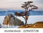 Winter Baikal. Shaman Tree On...