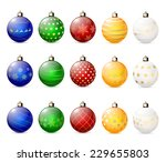 set of decorative christmas... | Shutterstock .eps vector #229655803