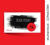 black friday card template.... | Shutterstock .eps vector #229661584