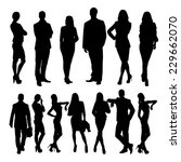 business people silhouettes... | Shutterstock .eps vector #229662070