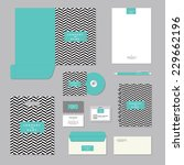stationary template design.... | Shutterstock .eps vector #229662196