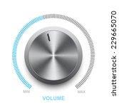 vector volume control on a... | Shutterstock .eps vector #229665070