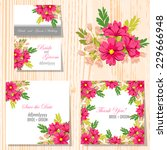 wedding invitation cards with... | Shutterstock .eps vector #229666948