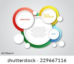 abstract vector background with ... | Shutterstock .eps vector #229667116