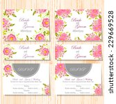 wedding invitation cards with... | Shutterstock .eps vector #229669528