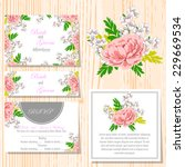 wedding invitation cards with... | Shutterstock .eps vector #229669534