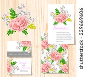 wedding invitation cards with... | Shutterstock .eps vector #229669606
