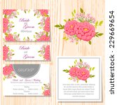 wedding invitation cards with... | Shutterstock .eps vector #229669654
