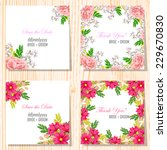 wedding invitation cards with... | Shutterstock .eps vector #229670830