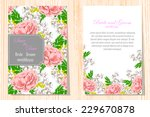 wedding invitation cards with... | Shutterstock .eps vector #229670878