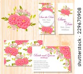 wedding invitation cards with... | Shutterstock .eps vector #229670908