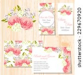 wedding invitation cards with... | Shutterstock .eps vector #229670920