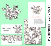 wedding invitation cards with... | Shutterstock .eps vector #229670959