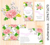 wedding invitation cards with... | Shutterstock .eps vector #229671670