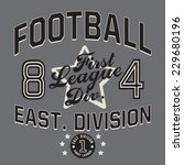 football typography  t shirt... | Shutterstock .eps vector #229680196