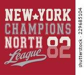sport nyc college typography  t ... | Shutterstock .eps vector #229685104