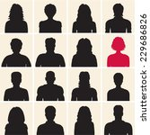 people silhouette | Shutterstock .eps vector #229686826