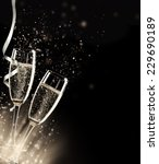 two glasses of champagne with... | Shutterstock . vector #229690189