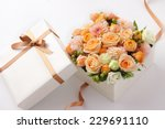 Flower Gift On A White...