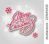 merry christmas tree greeting... | Shutterstock .eps vector #229692433