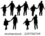 silhouette of a mother and son... | Shutterstock .eps vector #229700749
