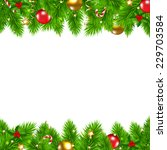 retro christmas wall with... | Shutterstock .eps vector #229703584