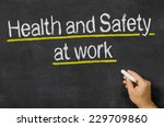 blackboard with the text health ... | Shutterstock . vector #229709860